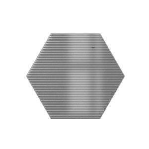 Mini Hexa Canale - Ash Grey Gloss