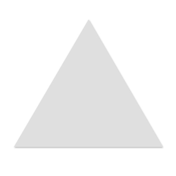 Triangle Floor - Ice White Matt